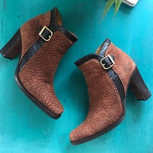 Genuine Leather Booties Women's Size 6